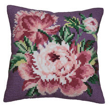 1x Cross Stitch Kit Cushion Cabbage Rose Sewing Craft Tool Hobby Art UK