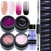 7Pcs Nagel Gellack Poly AcrylGel Collor Changing Slip Solution UV Gel Brush Lot