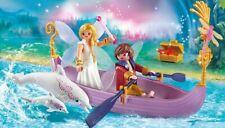 PLAYMOBIL FAIRIES 70000 Barque avec Couple de Fées et dauphins - boîte neuve