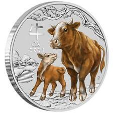 Australien - 2 Dollar 2021 Jahr des Ochsen   Ox (2.) Lunar III. - 2 Oz Silber ST