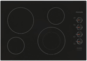Frigidaire 30-in Smooth Surface Black Electric Cooktop FFEC3025UB