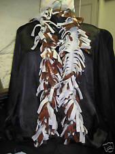 Scarf Fleece Boa Handmade football pattern gray