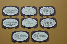 """Stampin Up Cardstock Greetings """"Oval All""""  Punchies Die Cut/Cuts"""