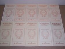 Easton Press bookplates for Library of Famous Editions, (10) book plates