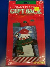 Happy Penguin Winter Christmas Holiday Party Plastic Giant Gift Sack Bag