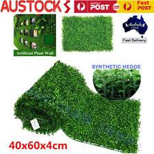 10x Artificial Fake Vertical Garden Green Wall Foliage Ivy Fence Mat Home Yard