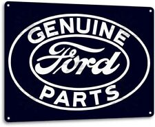 Ford Service Parts Dealer Retro Oval Logo Garage Wall Shop Decor Metal Tin Sign