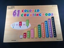 Wood Counting Rods Kindergarten Math Manipulatives Home School