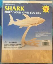 Build Your Own Wooden Sea Life-Shark New in Package #607782