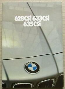 BMW 628 CSi, 633 CSi & 635 CSi Car Sales Brochure 1980 #011060220