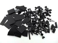 1/2+ Pound Of Black LEGOS ~ Various bricks, specialty pieces & plates