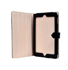 NEW iPAD 2, 3 & 4 COVER BLACK REAL SOFT LAMBSKIN NAPPA LEATHER LUXURY CASE STAND