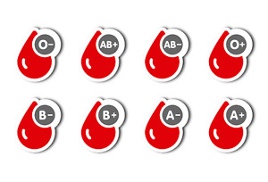 Blood Group Sticker for Helmet - Personal Blood Type Decal - 40mm Self Adhesive