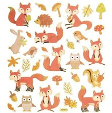Gold Foil Fox Woodland Forest Animals Stickers Planner Papercraft Party Journal