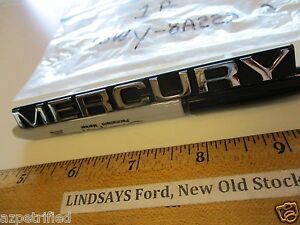 """FORD 1985/1989 MERCURY COUGAR """"NAME PLATE"""" (GRILLE OPENING PANEL) NO FORD BOX"""