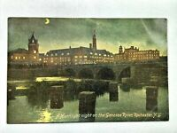 Vintage Postcard 1910's A Moonlight Night on the Genesee River Rochester NY