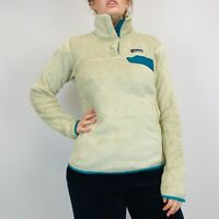 Vintage Patagonia Snap-T Fleece Women's Pullover Medium Beige