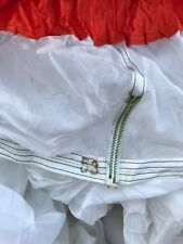 Military White & Red Parachute 80 To 100 Ft New, Canopy,Burning man,wedding .