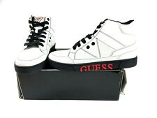 Guess Mens Size 9.5M White Annex High Top Lace Up Sneakers Shoes New