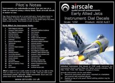 Airscale AS32AJET 1/32 Early Allied Jet Instruments Decal Set