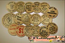 USA. :- Wooden Nickel's Tokens (17 items)