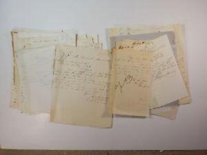 48 Antique Letters 1863 Civil War Era Lot Collection Papers History VTG NR Old
