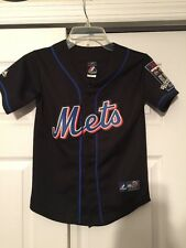 Johan Santana NEW YORK METS Majestic Youth Jersey #57 Sewn 2009 Season Patch SM