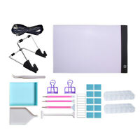 25 Pieces 5D Diamond Painting Tools Kit with A4 LED Light Pad Board Supplies