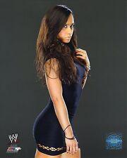"AJ LEE WWE PHOTO OFFICIAL WRESTLING 8x10"" PROMO SEXY BLACK DRESS"