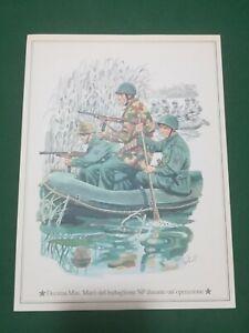 Vintage -  DECIMA Mas. Marò del Battaglione NP  , vecchia  stampa   21x28