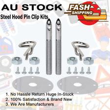 Universal Alloy Mount Bonnet Hood Pin Pins Lock Latch Kit Racing Sport Car Steel