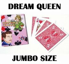 DREAM QUEEN JUMBO SIZE CARD MENTALISM MIND READING BICYCLE BACK MAGIC TRICK