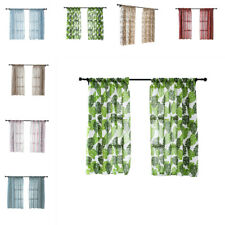 Kitchen Short Curtains Roman Blinds Floral Sheer Panel Window Curtain Home Decor
