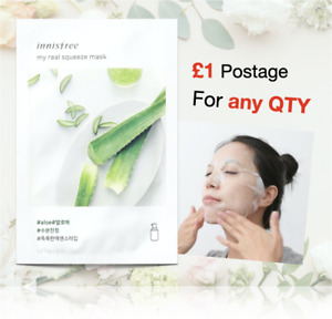 INNISFREE My Real Squeeze Mask (Aloe), £1 postage for any qty/Korea Mask