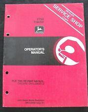 ORIGINAL 1984 JOHN DEERE 2750 TRACTOR OPERATORS MANUAL VERY GOOD SHAPE