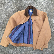 Vintage Usa Made Blanket Lined Carhartt Canvas Work Hunting Coat Jacket M