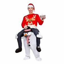 Carry Me Piggy Back Ride On Novelty Snowman Mascot Fancy Dress Costume Christmas