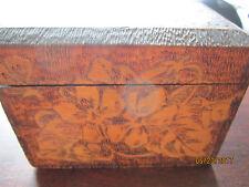 OLD Wooden carved Trinket Box FLEMISH 695 Antique RARE Collection Vintage