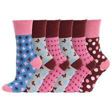 Ladies Womens Eazy Grip Non Elastic Wide Loose Top Comfort Cotton Socks 4-7 Uk