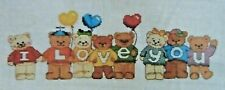 "Dimensions Cross Stitch Instruction 53503 I Love You Bears 18"" x 8"""
