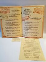 Vintage Original Menu BUTTONWOOD MANOR RESTAURANT MATAWAN NJ 1950s RARE ICONIC