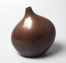 Japanese Bronze / Copper alloy Ikebana Vase by Kobayashi Shokichi