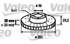 VALEO Juego de 2 discos freno Antes 280mm ventilado SEAT TOLEDO 186313