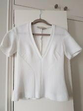 Stella McCartney White Top Fitted Deep V-neckline Size S