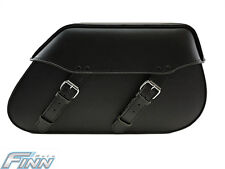 102 Tek Leather Motorcycle Saddlebags Full Solid Universal Fit HD Softail