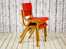 Pair of Vintage Retro Mid Century Stacking Chairs