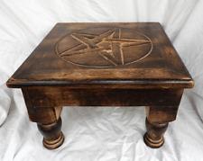 Hand Carved Pentagram Side Table / Coffee Table / Altar Table - BNIB