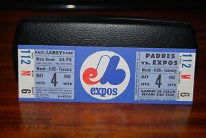 1976 Montreal Expos Ticket Stub Padres vs Expos 5.4.76 Unused Mint