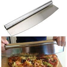 NEW PROFESSIONAL STAINLESS 18/10 STEEL  PIZZA CUTTER ROCKER KNIFE SLICER KITCHEN