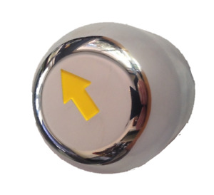 PACKAGE 24 X 41mm SAFETY ARROW ABS CHROME NUT COVERS